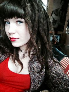 This is kinda what I'm going for. Chunky dreads and bangs