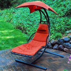 This beautifully designed hanging chaise lounge is sure to make a statement on your patio, porch, deck or indoor sunroom! Description from shopko.com. I searched for this on bing.com/images