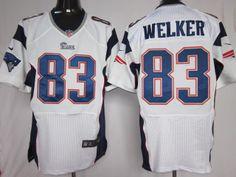 30cc1f8a3 Nike NFL Elite Jerseys New England Patriots Wes Welker  83 White, NIKE NFL  Jerseys