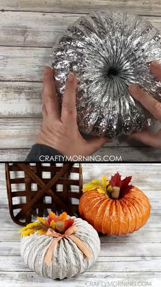 Dryer Vent Duct Pumpkins- a fun and easy fall craft to make with the kids or adults! Adorable pumpkin fall home decor that is affordable. How to make a dryer duct pumpkin. Halloween craft/ diy to make. Fall DIY decor! Easy Fall Crafts, Easy Christmas Crafts, Fall Diy, Crafts To Make, Fall Crafts For Adults, Easy Fall Wreaths, Christmas Holidays, Fall Halloween, Halloween Crafts