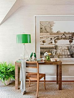 Surround yourself with beauty to inspire your work day! More home office ideas: http://www.bhg.com/rooms/home-office/storage/home-office-storage/?socsrc=bhgpin072114inspirationpoint&page=8