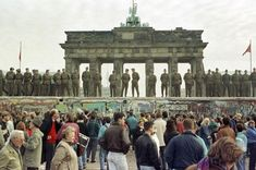 Angela Merkel has urged Europe to defend 'democracy' and 'freedom' as Germany is today marking 30 years since the Berlin Wall fell. East Germany, Berlin Germany, Berlin Berlin, Munich, Berlin Ick Liebe Dir, Berlin Hauptstadt, Brandenburg Gate, Berlin Wall, Places Ive Been