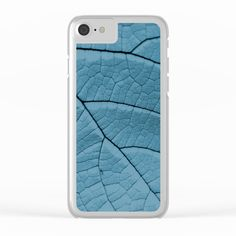 Blue Leaf Clear iPhone Case by ARTbyJWP from Society6 #blue #phonecases #iphonecases #clearcases #society6cases ---  Shop clear iPhone cases featuring brilliant patterns and designs on frosted, transparent shells - created by the world's best independent artists.