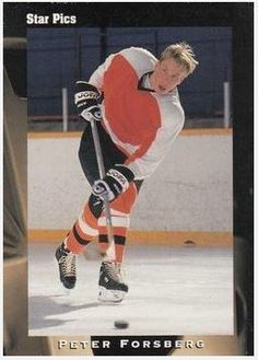 Forsberg, Peter / Philadelphia Flyers (1991) / Star Pics #35 (Hockey Card) / Draft, $3.00