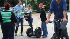 """E-Bikes, Segways und Velotaxi auf der """"Tour de Trasse"""": Das Kunstmuseum in Gräfrath widmete sich dem Thema Fahrrad. Baby Strollers, Children, Sport Craft, Art Museum, Trial Bike, Baby Prams, Young Children, Kids, Strollers"""