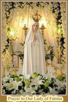 Prayer to Our Lady of Fatima --Fátima, Portugal on the thirteenth day of six consecutive months in 1917, beginning on May 13. The three children were Lúcia Santos and her cousins Jacinta and Francisco Marto.--then the apparitions started