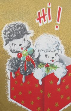 Vintage Christmas Card posted by Redlandspoodles.com