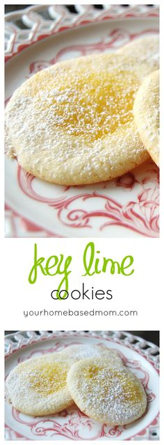 Key Lime Cookies - just the perfect amount of lime goodness.