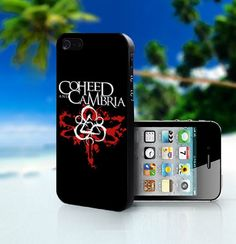 coheed and cambria emblem black marble iphone case