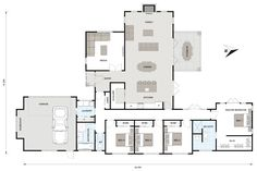 Nikau 241 - Ikon Homes Would rearrange laundry maybe Luxury House Plans, Best House Plans, Dream House Plans, House Floor Plans, Circle House, One Level Homes, Modern Bungalow House, Home Design Floor Plans, Build Your Own House