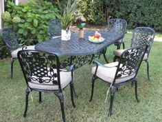 Your garden can offer more than pretty flowers and a well kept lawn. So why not reward yourself with the best this 7 Piece cast Aluminum Outdoor Dining Set and enjoy your outdoor dining space, create a warm focal point to enjoy your garden on long summer evenings.
