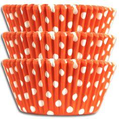 Orange Polka Dot Baking Cup #gators #uf