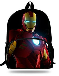 972a0aff1e 16-inch Kids School Backpack Iron man For Child Age 7-13 Children School  Bags