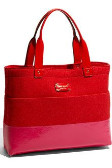 Kate Spade new york red kate spade frosted felt magazine tote fabric product