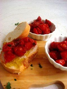 De novo   Tomatinhos assados (confit)