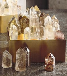 Roost Crystal Point Light Box Lamps | Modish Store