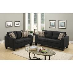 Shop for Sevan Loveseat and Sofa Set with Polyfiber Upholstery. Get free shipping at Overstock.com - Your Online Furniture Outlet Store! Get 5% in rewards with Club O!