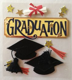Graduation Jolees Boutique Dimensional Scrapbooking Stickers