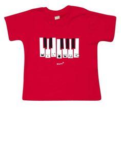 Camiseta divertida para bebé fabricada en algodón orgánico de la marca Mommo.