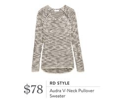 Stitch Fix RD Style Audra V-Neck Pullover Sweater