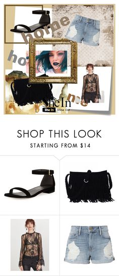 """SheIn"" by opipan ❤ liked on Polyvore featuring Stuart Weitzman, Frame and Post-It"
