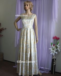 Delilah  Vintage Style Bridal Gown. Full Length by EllanaCouture
