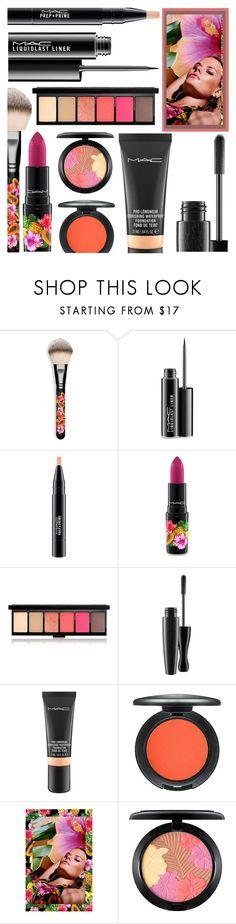 """MAC"" by rasa-j ❤ liked on Polyvore featuring beauty, MAC Cosmetics, mac and beautyset"