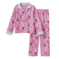 Ariel, Rapunzel and Cinderella Pajama Set - Size 8 NWT Girls Disney Princess #Disney #PajamaSet