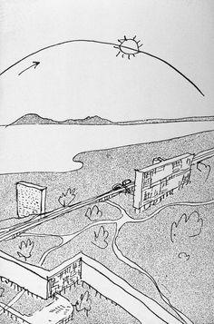 le corbusier - sketch of algiers