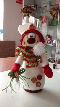 Christmas Gingerbread, Felt Christmas, Christmas Projects, Christmas 2019, Handmade Christmas, Christmas Holidays, Christmas Ornaments, Snowman Decorations, Snowman Crafts