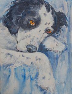 DayDreamin' by Patrice Schooley, painting by artist Art Helping Animals Paintings I Love, Animal Paintings, Animal Drawings, Dog Artist, Artist Art, Dog Illustration, Illustrations, Art Van, Virtual Art