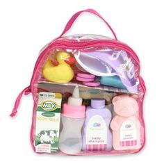 JC Toys For Keeps! 20 Pcs Baby Doll Essentials Accessory Bag Image 1 of 4 Baby Doll Nursery, Baby Doll Toys, Baby Alive Dolls, Little Girl Toys, Toys For Girls, Princess Toys, Baby Doll Accessories, Baby Shampoo, Bitty Baby