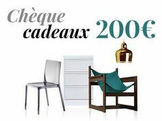 Chèque cadeaux 200 € www.amateurdedesign.com