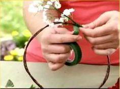 Como hacer una corona de flores de seda