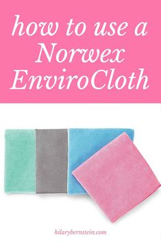 I LOVE my Norwex EnviroCloth ... I need to remember the ways I can use an EnviroCloth to clean my home!