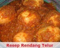Resep Rendang Telur Padang Eat Me Drink Me, Food And Drink, Egg Recipes, Cooking Recipes, Indonesian Food, Indonesian Recipes, Malay Food, Padang, Tasty