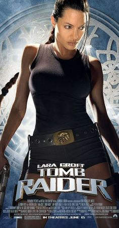 "Lara Croft: Tomb Raider (d. Angelina Jolie, Jon Voight, Iain Glen, Noah Taylor) (""Video game adventuress Lara Croft comes to life in a movie where she races against time and villains to recover powerful ancient artifacts. Tomb Raider Angelina Jolie, Lara Croft Angelina Jolie, Angelina Jolie Movies, Tomb Raider Lara Croft, Tomb Raider 2001, Laura Croft, Daniel Craig, Tomb Raider Full Movie, Film Music Books"