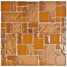 Merola Tile Garden Versailles Peony 11 3/4 in. x 11 3/4 in. Ceramic and Glass Wall Tile