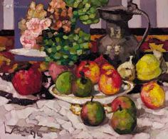 Kees Bol, My abundant table (still life), 1994 Dutch Artists, Still Life, Painting, Draw, Landscape, Floral, Table, Beautiful, Expressionism