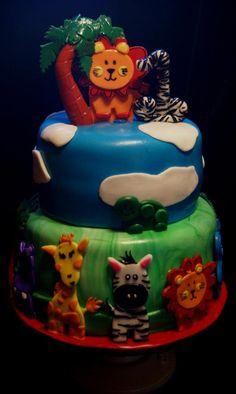 safari friend cake