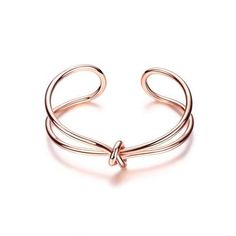 Infinite Knot Cuff Bracelet - Rose Gold