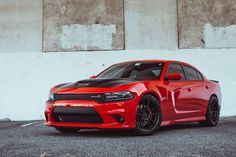 Racing Red Dodge Charger Scat Pack by Rohana Wheels