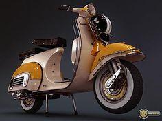 Classic Vespa Motor Scooter!