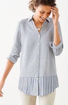mixed-stripes shirttail tunic, inspiration