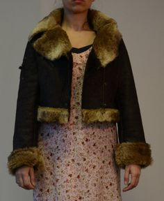 Vintage Punky Fish punk jacket by SweetSpicyVintage on Etsy Punk Jackets, Vintage Outfits, Fur Coat, Fish, Clothes, Fashion, Outfits, Moda, Clothing