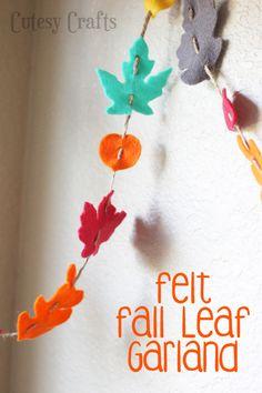 Felt Fall Leaf Garland