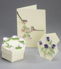 Card and Gift Box Kit - A Summers Day quilling kit www.customquilling.com
