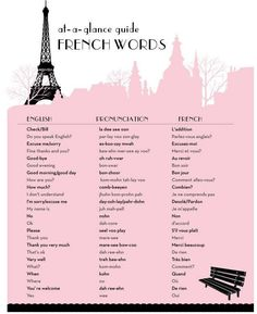 ✨✨Basic French Words✨✨
