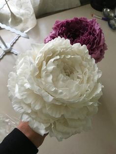 Between work kids and my huge garden I have been working on some peony tutorials. I'm slowly getting there so thought I might post where I have gotten to so far! These are freeform, no cutters or tools. My tutorials are available at...
