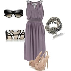evening wedding guest, created by lipstickandbullet...but why carry sunglasses at night??? (obvious song related jokes aside...) Dress Outfits, Cool Outfits, Fashion Outfits, Bar Outfits, Vegas Outfits, Woman Outfits, Dress Shoes, Summer Wedding Outfits, Summer Weddings